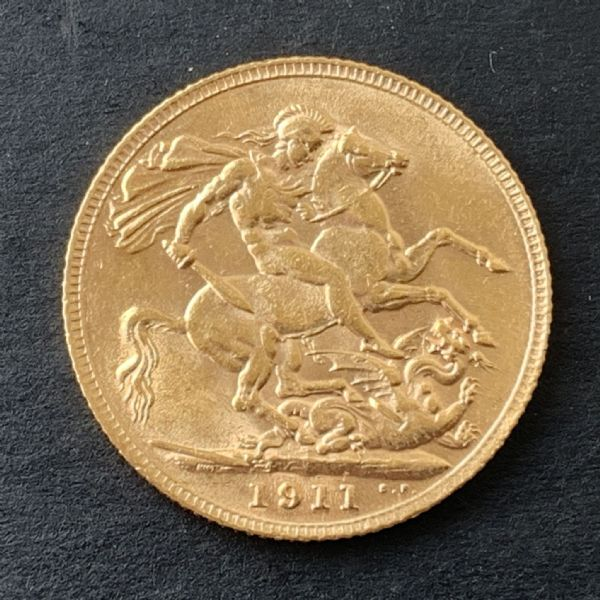 1911 Gold Sovereign London Mint